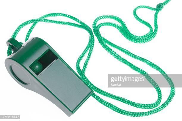 green whistle on white