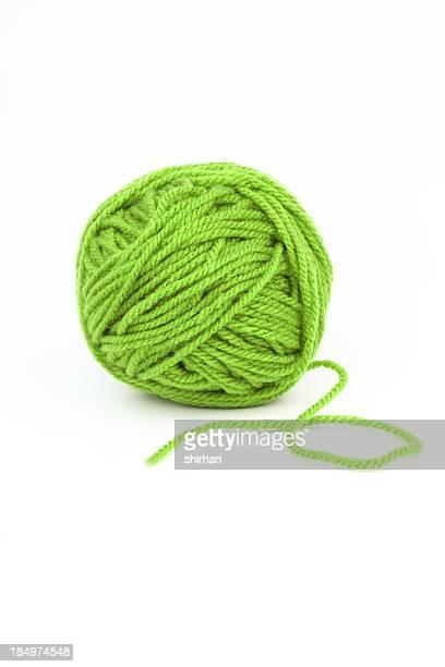 Green wool.