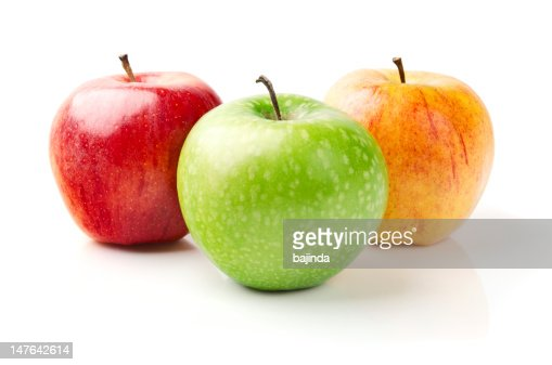 Green, Yellow and Red Apples : Stock Photo