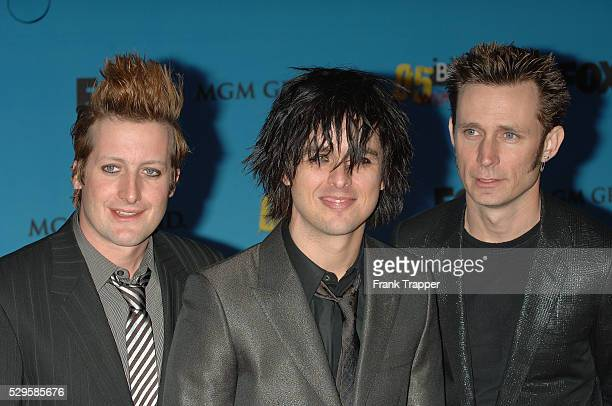 Greenday arrive at the 2005 Billboard Music Awards held at MGM Grand Garden Arena in Las Vegas