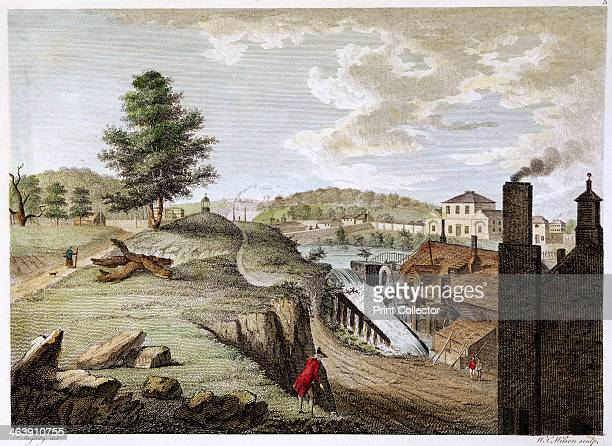 Greenfield Brass Mill near Holywell Flintshire Wales 1792 Illustration showing industrialisation in the rural landscape