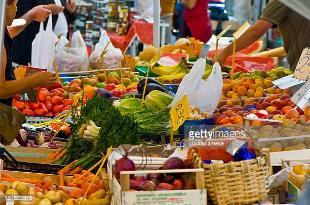 Greengrocer's Shop. Color Image