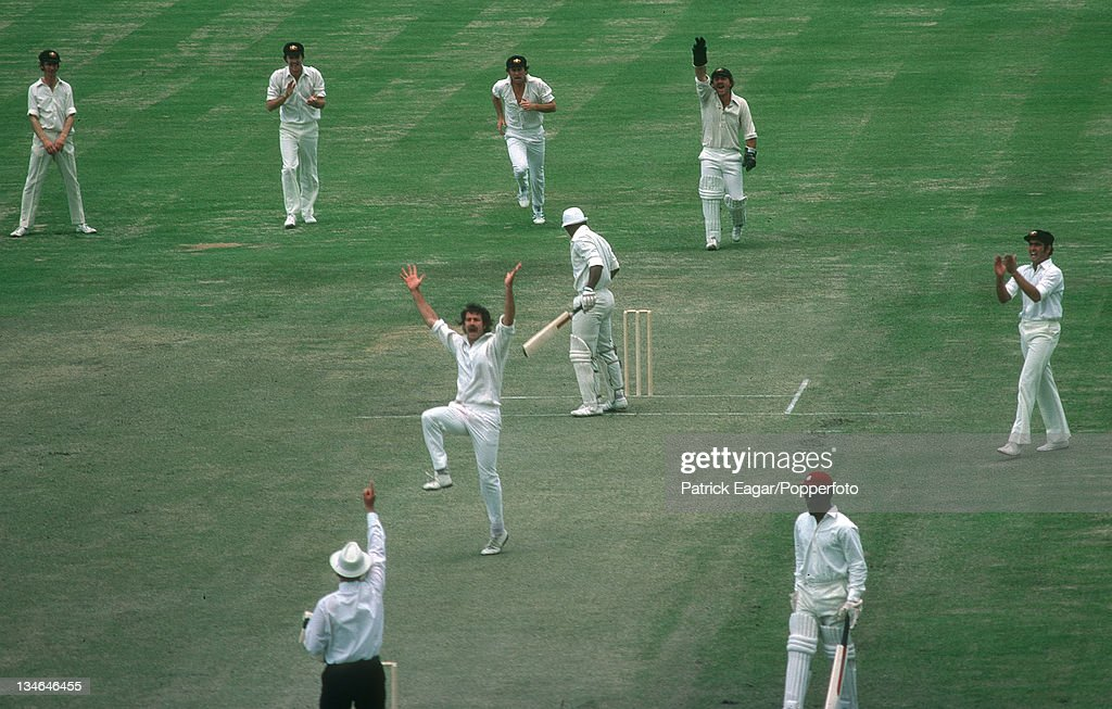 Greenidge lbw Lillee Australia v West Indies 1st Test Brisbane November 197576