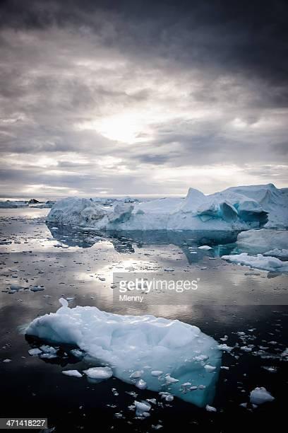 Greenland Arctic Nature Icebergs Fragile Environment