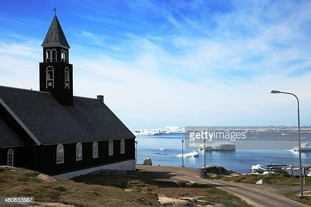 Greenland, Ilulissat, View of church
