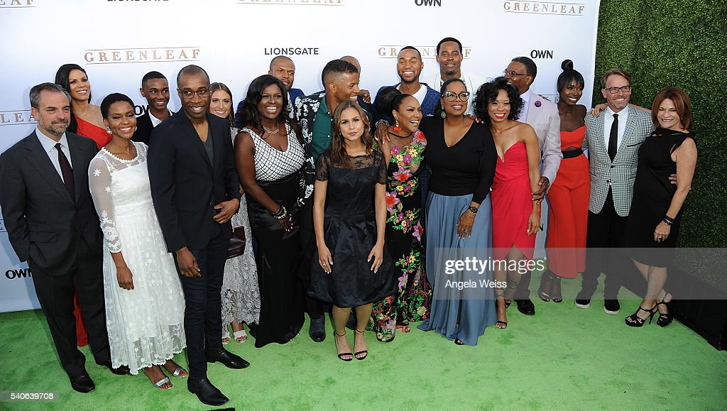 'Greenleaf' cast members attend the premiere of OWN's 'Greenleaf' at The Lot on June 15, 2016 in West Hollywood, California.