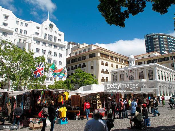 Greenmarket Square fleamarket Cape Town South Africa