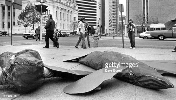 111982 Greenpeace members dressed as whales lay facing the New Customs house Whaling and flapping there fins