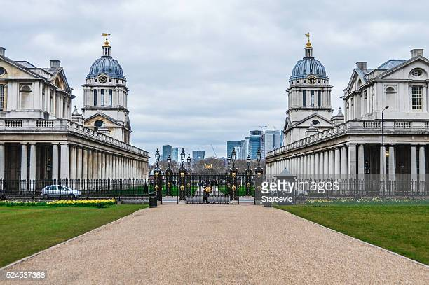 Greenwich and Canary Wharf in London