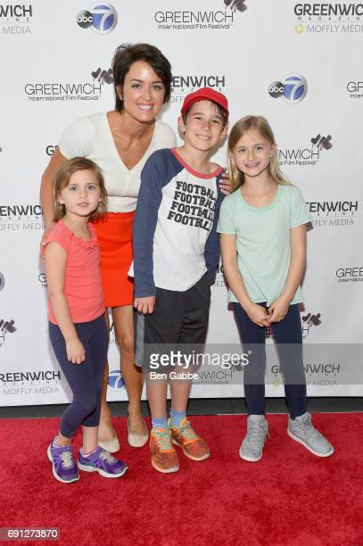 Greenwich International Film Festival Chairman of the Board Founder Wendy Reyes and family attend the screening of Captain Underpants during...