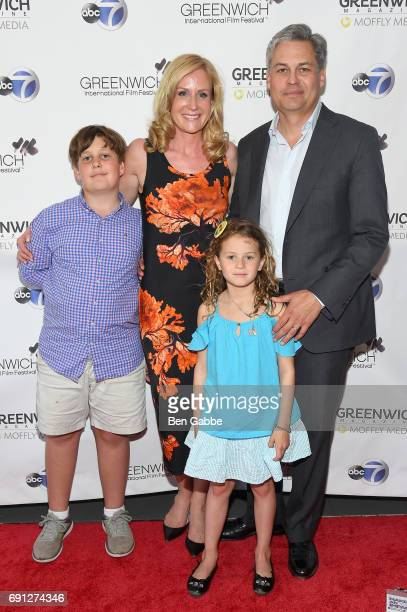 Greenwich International Film Festival Director of Programming Founder Colleen deVeer and family attend the screening of Captain Underpants during...
