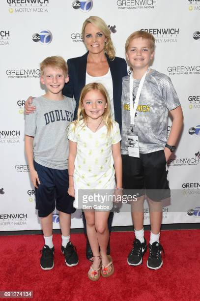 Greenwich International Film Festival Executive Director COO Ginger Stickel and family attend the screening of Captain Underpants during Greenwich...