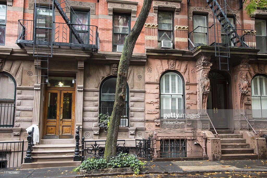 Greenwich Village Apartment Buildings, New York City : Stock Photo