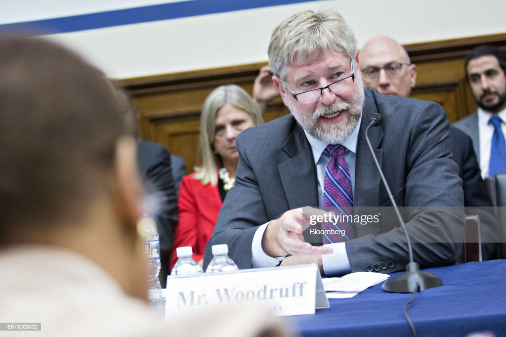 Greer Woodruff, senior vice president of safety, security, and driver personnel at J.B. Hunt Transport Inc., speaks during a House Highways and Transit Subcommittee roundtable discussion in Washington, D.C., U.S., on Thursday, Dec. 7, 2017. The roundtable focused on emerging technologies being utilized or explored in the trucking industry. Photographer: Andrew Harrer/Bloomberg via Getty Images