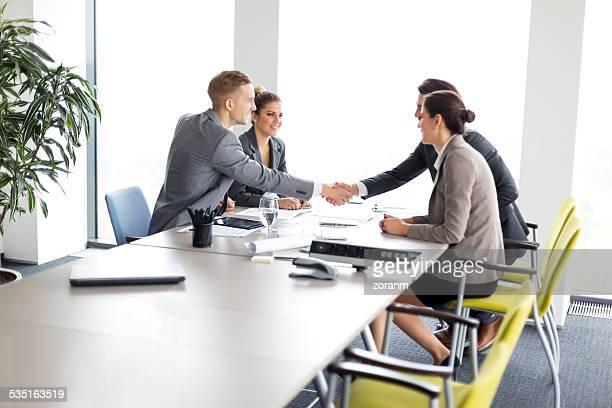 Greeting an advisor