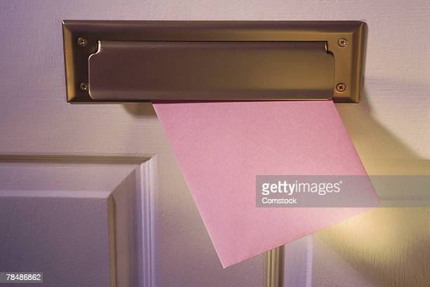 Greeting card in mail slot