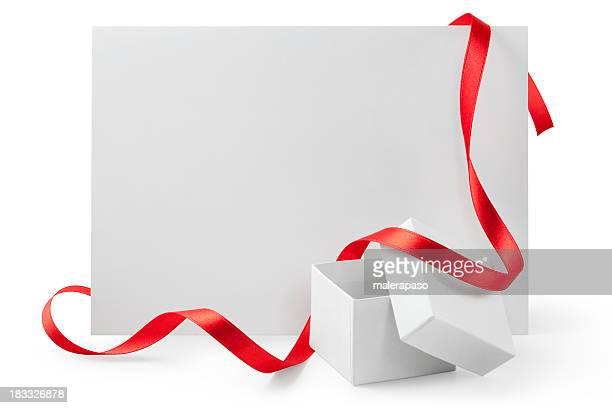 Cartes de voeux avec cadeau