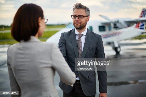 Greeting partner : Stock Photo