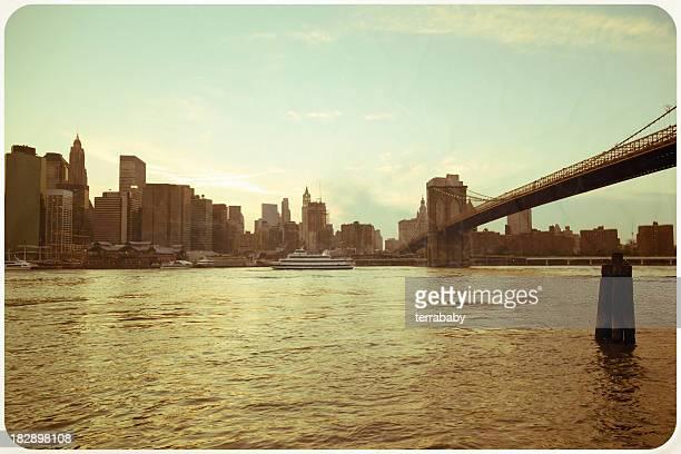 Saluti da cartolina Retro Vintage di New York