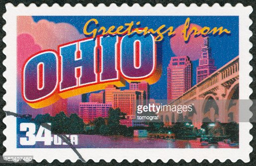 Greetings from Ohio postage stamp