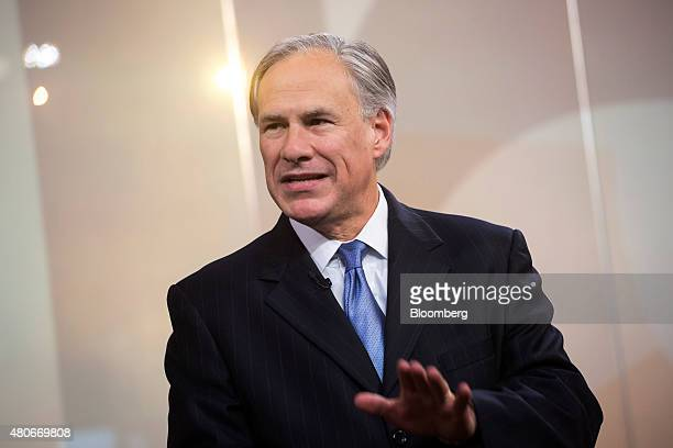 Greg Abbott governor of Texas speaks during a Bloomberg Television interview in New York US on Tuesday July 14 2015 Since Texas won a court case...