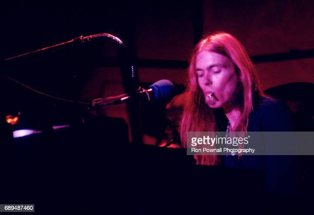 Greg Allman performs with the Greg Allman Band at the Boston Music Hall on April 8 1974 in Boston Massachusetts