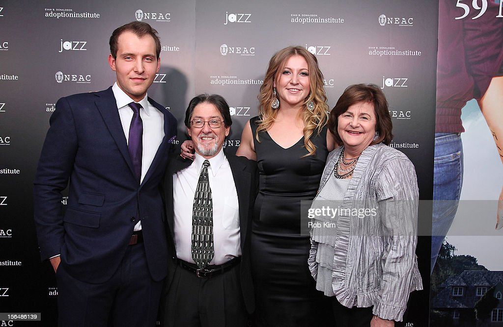Greg Ammon, Adam Pertman, executive director Adoption Institute, Alexa Ammon and aunt Sandra Williams attend '59 Middle Lane' New York Benefit Screening at Jazz at Lincoln Center on November 15, 2012 in New York City.