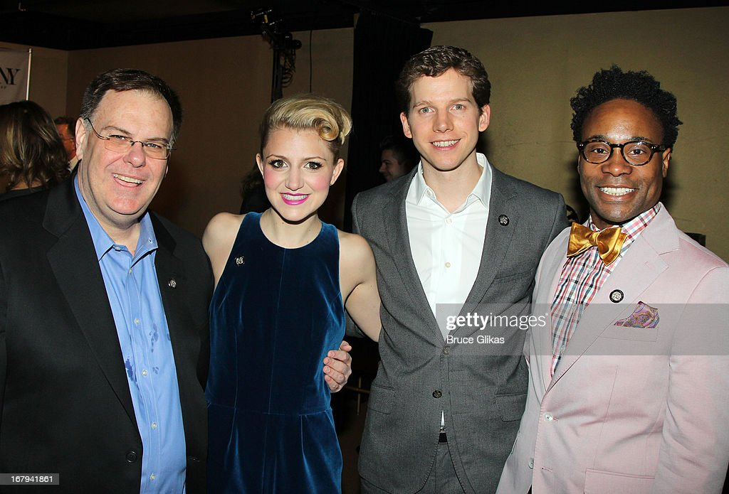 Greg Barnes, Annaleigh Ashford, Stark Sands and Billy Porter attend the 2013 Tony Awards: The Meet The Nominees Press Junket at the Millenium Hilton on May 1, 2013 in New York City.