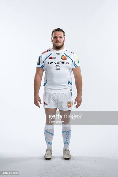Greg Bateman of Exeter Chiefs poses for a picture during the BT Photo Shoot at Sandy Park on August 26 2014 in Exeter England