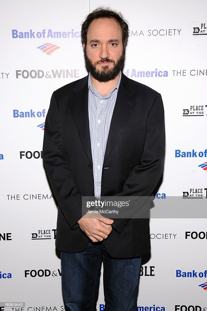 Greg Bellow attends the Bank of America and Food & Wine with The Cinema Society screening of 'A Place at the Table' at Museum of Modern Art on February 27, 2013 in New York City.