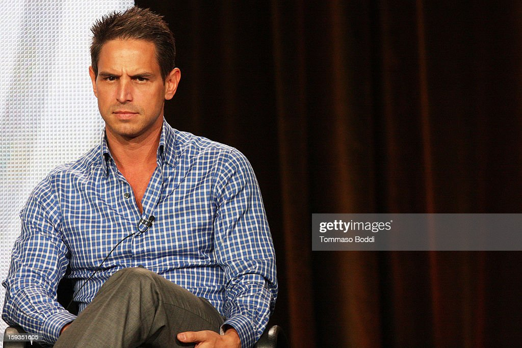 EP <a gi-track='captionPersonalityLinkClicked' href=/galleries/search?phrase=Greg+Berlanti&family=editorial&specificpeople=2985318 ng-click='$event.stopPropagation()'>Greg Berlanti</a> of the TV show 'Golden Boy' attends the 2013 TCA winter press tour CW/CBS panel held at The Langham Huntington Hotel and Spa on January 12, 2013 in Pasadena, California.