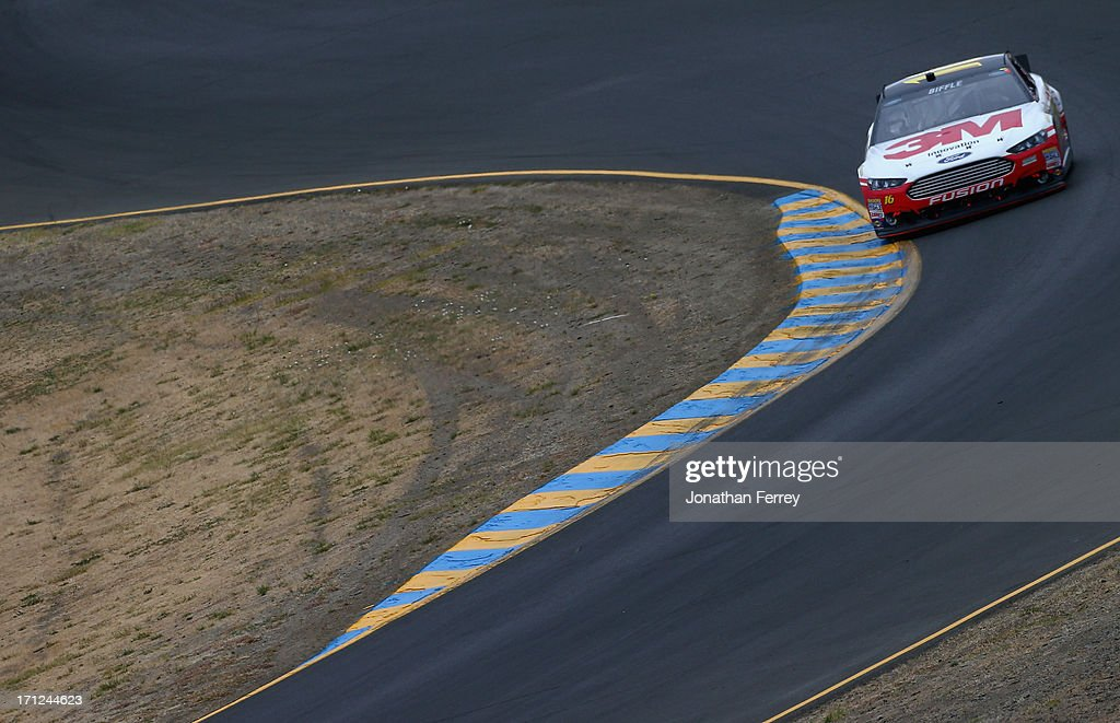 Greg Biffle, driver of the #16 3M Ford, drives during the NASCAR Sprint Cup Series Toyota/Save Mart 350 at Sonoma Raceway on June 23, 2013 in Sonoma, California.