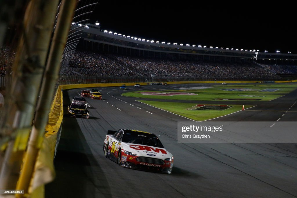 Greg Biffle, driver of the #16 3M Ford, during the NASCAR Sprint Cup Series Bank of America 500 at Charlotte Motor Speedway on October 12, 2013 in Concord, North Carolina.