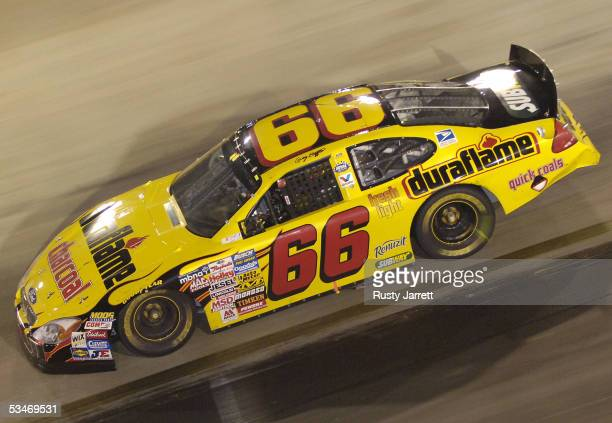 Greg Biffle driver of the Duraflame Ford finishes second in the NASCAR Busch Series Food City 250 on August 26 2005 at the Bristol Motor Speedway in...