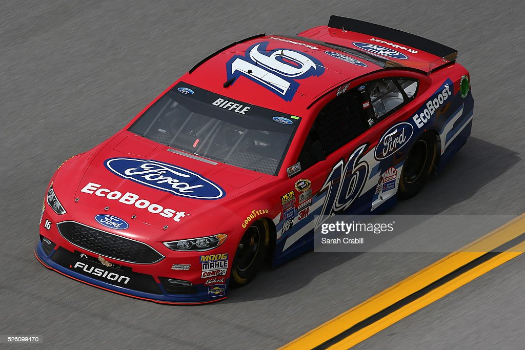 <a gi-track='captionPersonalityLinkClicked' href=/galleries/search?phrase=Greg+Biffle&family=editorial&specificpeople=209093 ng-click='$event.stopPropagation()'>Greg Biffle</a>, driver of the #16 Ford EcoBoost Ford, practices for the NASCAR Sprint Cup Series GEICO 500 at Talladega Superspeedway on April 29, 2016 in Talladega, Alabama.