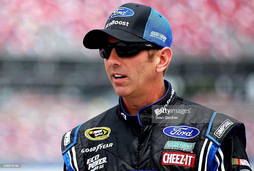 <a gi-track='captionPersonalityLinkClicked' href=/galleries/search?phrase=Greg+Biffle&family=editorial&specificpeople=209093 ng-click='$event.stopPropagation()'>Greg Biffle</a>, driver of the #16 Ford EcoBoost Ford, stands on the grid during qualifying for the NASCAR Sprint Cup Series GEICO 500 at Talladega Superspeedway on April 30, 2016 in Talladega, Alabama.