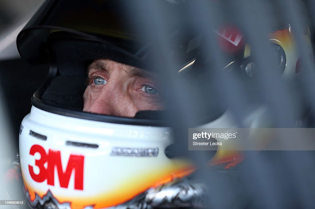 Greg Biffle, driver of the #16 Ford, prepares to go on track during NASCAR Testing at Charlotte Motor Speedway on January 18, 2013 in Charlotte, North Carolina.