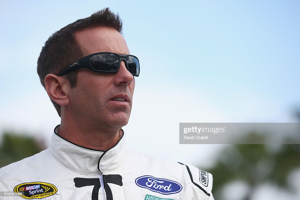 <a gi-track='captionPersonalityLinkClicked' href=/galleries/search?phrase=Greg+Biffle&family=editorial&specificpeople=209093 ng-click='$event.stopPropagation()'>Greg Biffle</a>, driver of the #16 KFC Nashville Hot Ford, stands on the grid during qualifying for the NASCAR Sprint Cup Series Daytona 500 at Daytona International Speedway on February 14, 2016 in Daytona Beach, Florida.