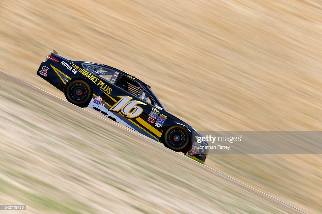 <a gi-track='captionPersonalityLinkClicked' href=/galleries/search?phrase=Greg+Biffle&family=editorial&specificpeople=209093 ng-click='$event.stopPropagation()'>Greg Biffle</a>, driver of the #16 Performance Plus Motor Oil Ford, drives during practice for the NASCAR Sprint Cup Series Toyota/Save Mart 350 at Sonoma Raceway on June 24, 2016 in Sonoma, California.