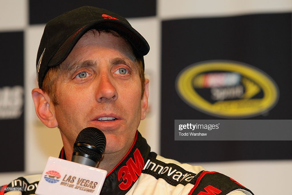 <a gi-track='captionPersonalityLinkClicked' href=/galleries/search?phrase=Greg+Biffle&family=editorial&specificpeople=209093 ng-click='$event.stopPropagation()'>Greg Biffle</a>, driver of the #16 Red Cross Ford, speaks to the media after a testing session at Las Vegas Motor Speedway on March 6, 2014 in Las Vegas, Nevada.