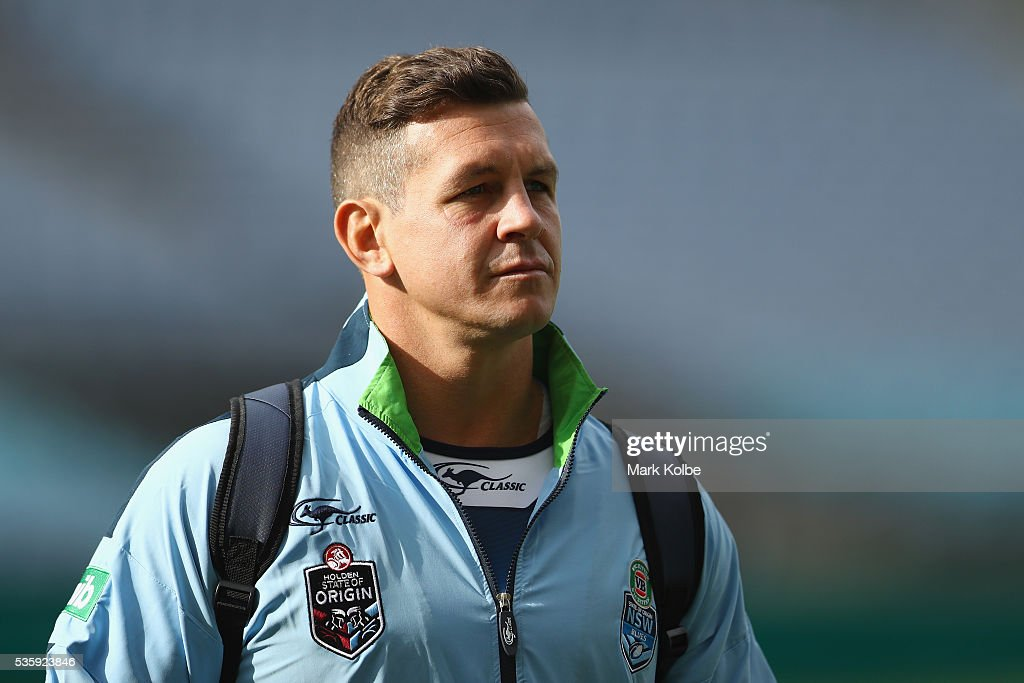 <a gi-track='captionPersonalityLinkClicked' href=/galleries/search?phrase=Greg+Bird+-+Rugby+Player&family=editorial&specificpeople=14983686 ng-click='$event.stopPropagation()'>Greg Bird</a> arrives for the New South Wales State of Origin captain's run at ANZ Stadium on May 31, 2016 in Sydney, Australia.