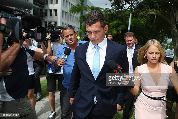 Greg Bird leaves Southport Magistrates Court on March 9 2015 in Gold Coast Australia Gold Coast Titans NRL players have been served with a Notice to...
