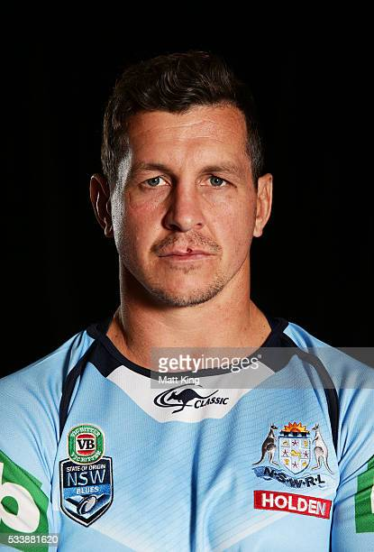 Greg Bird of the Blues poses during a New South Wales Blues NRL State of Origin portrait session at The Novatel on May 24 2016 in Coffs Harbour...