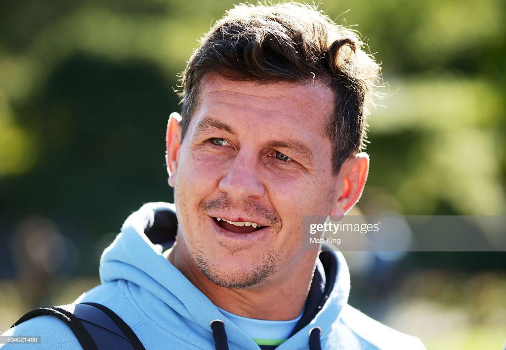 <a gi-track='captionPersonalityLinkClicked' href=/galleries/search?phrase=Greg+Bird+-+Rugby+Player&family=editorial&specificpeople=14983686 ng-click='$event.stopPropagation()'>Greg Bird</a> of the Blues speaks to the media during a New South Wales Blues State of Origin media session at the Novatel on May 25, 2016 in Coffs Harbour, Australia.
