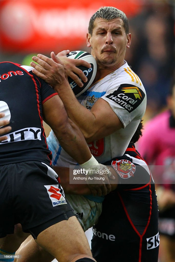 Greg Bird of the Titans in action during the round eight NRL match between the New Zealand Warriors and the Gold Coast Titans at Mt Smart Stadium on May 5, 2013 in Auckland, New Zealand.