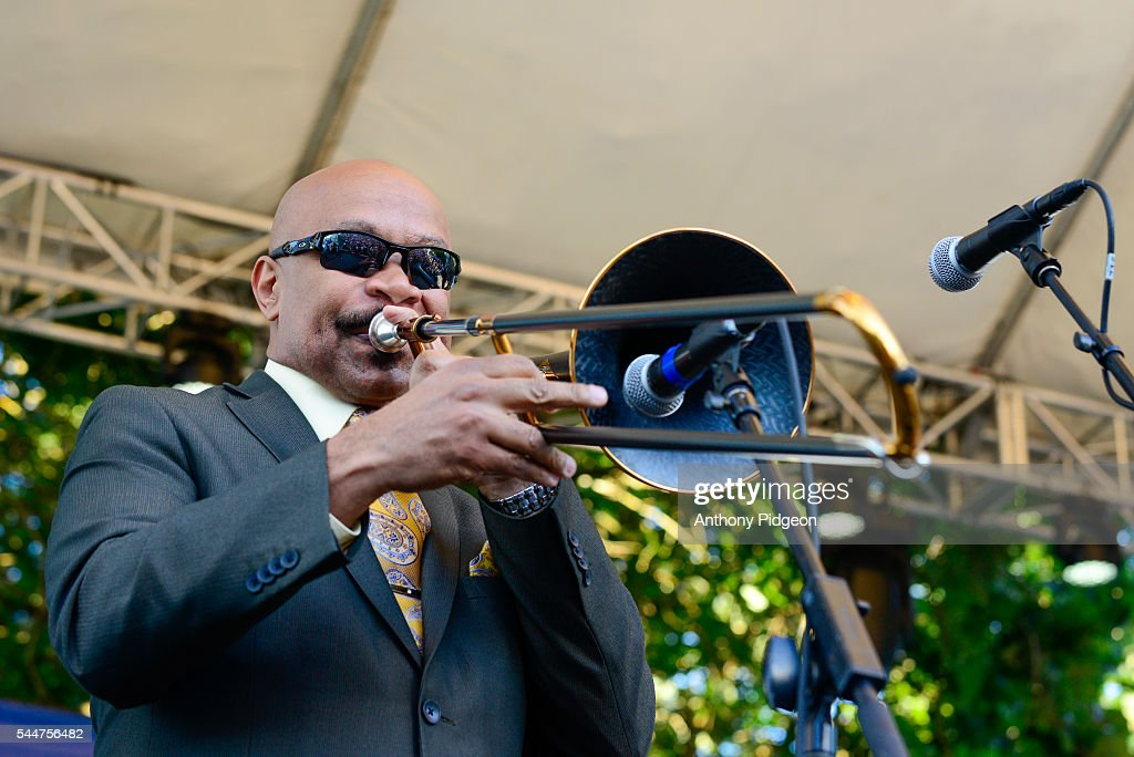 Greg Boyer of Maceo Parker performs onstage at Waterfront Blues Festival at Tom McCall Waterfront Park on July 1 2016 in Portland Oregon