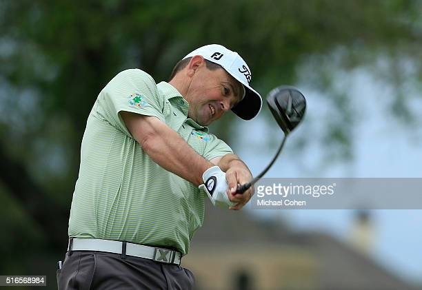 Greg Chalmers of Australia hits his drive on the fourth hole during the third round of the Chitimacha Louisiana Open presented by NACHER held at Le...