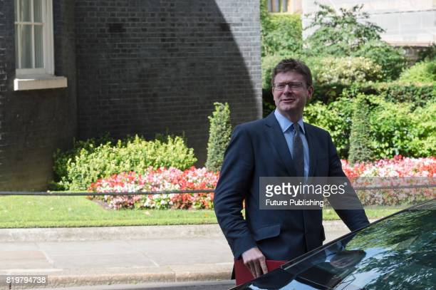 Greg Clark Secretary of State for Business Energy and Industrial Strategy leaves 10 Downing Street after the first in a series of meetings between...