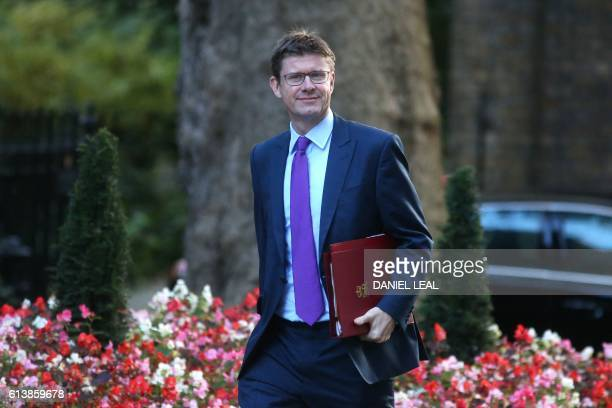 Greg Clark Secretary of State for Business Energy and Industrial Strategy arrives at 10 Downing Street in London for a cabinet meeting on October 11...