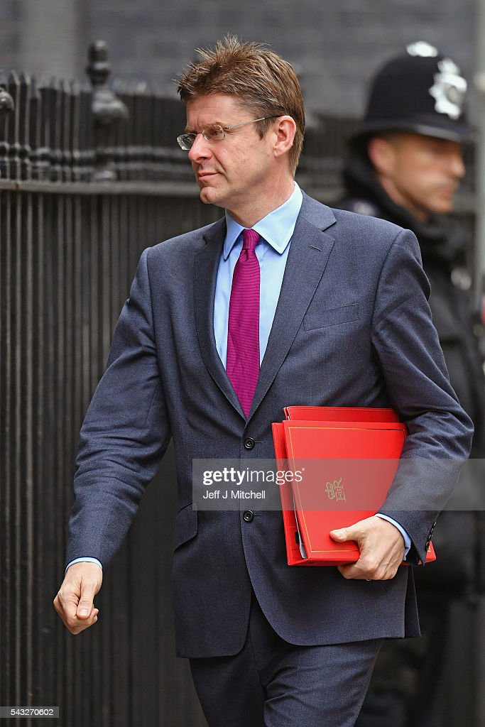 Greg Clark, Secretary of State for Communities and Local Government arrives for a cabinet meeting at Downing Street on June 27, 2016 in London, England. British Prime Minister David Cameron is due to chair an emergency Cabinet meeting this morning, after Britain voted to leave the European Union. Chancellor George Osborne spoke at a press conference ahead of the start of financial trading and outlining how the Government will 'protect the national interest' after the UK voted to leave the EU.